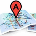 "local search result pointer ""A"" on unfolded map"