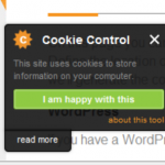 Floating Cookie Law Example