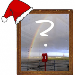 Santa's hat, picture, question mark: Portishead Christmas Picture Quiz