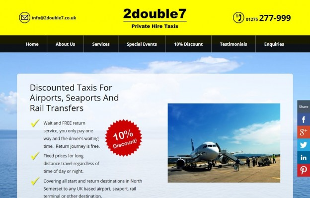 2double7 Private Hire Taxis Website