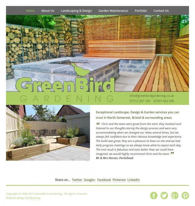 GreenBird Gardening Website