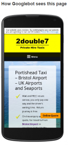 an ezesite website on a smartphone