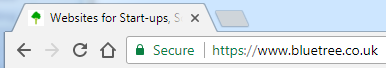 how google chrome identifies a secure website
