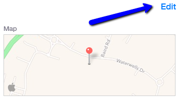 changing the pointer location on apple maps