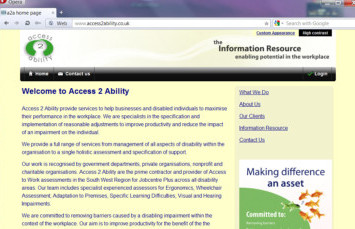 access to ability home page